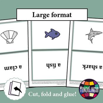 Flashcards to teach English/ESL: Sea animals