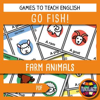 English/ESL - Go Fish - Farm Animals