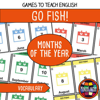 Card game to teach English/ESL: Go Fish about the months of the year