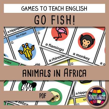 English/ESL - Go Fish - Animals in Africa
