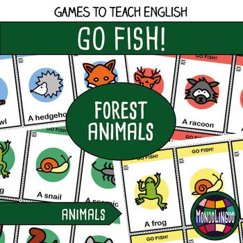 English/ESL - Go Fish - Forest Animals