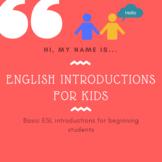 ESL English Introductions