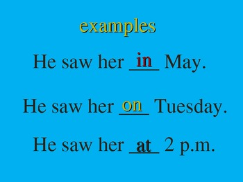 English / ESL Prepositions PowerPoint