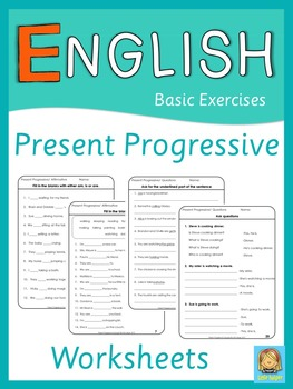 ESL Present Progressive Worksheets