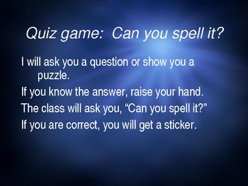 English / ESL - Spelling / Quiz Game