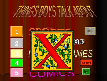 English / ESL - Top 5 PowerPoint Game