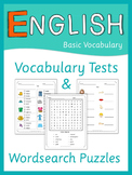 ESL Vocabulary tests and word search puzzles   Basic Vocabulary