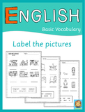 ESL label the pictures