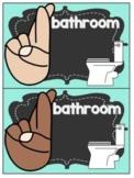 English Editable Hand Signal Posters