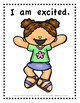 English Emergent Readers and Writers - I AM.....FEELINGS!