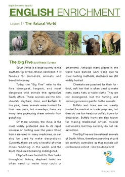 English Enrichment Level 3.3 - The Natural World: South Africa