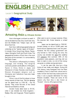 English Enrichment Level 3.5 - Geographical Study: East Asia