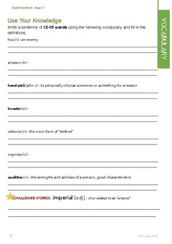 English Enrichment Level 3.7 - Historical Fiction (Part 1)