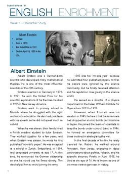 albert einstein short biography in english