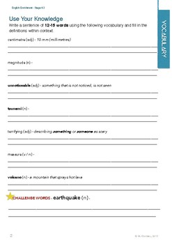 English Enrichment Level 4.3 - Natural Science: Earthquakes