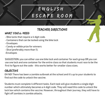English Escape Room