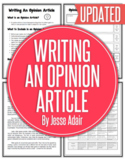 English: Writing An Opinion Article Plus Rubric Grades 6 - 12