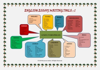 English Essay Writing Tools - 1: Linking Words & Phrases