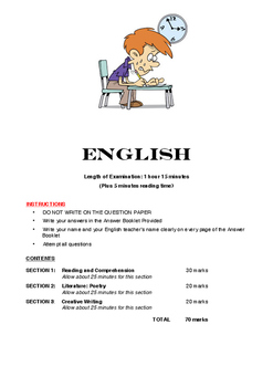 English Examination Year 10