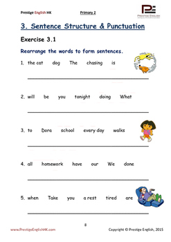 English Exercise Book – Primary 2 SAMPLE ( FREE / FREEBIE )