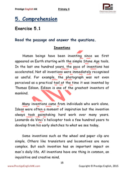 English Exercise Book – Primary 4 SAMPLE ( FREE / FREEBIE )