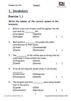 English Exercise Book – Primary 5 SAMPLE ( FREE / FREEBIE )