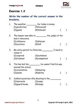 English Exercise Book – Primary 5 (ages 9+) (Vocabulary, Grammar, Comprehension)