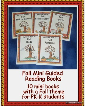 English Fall Mini Guided Reading Books in Color