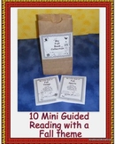 English Fall Mini Guided Reading Books in Black and White