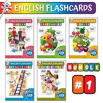 English Flashcards - Bundle #1
