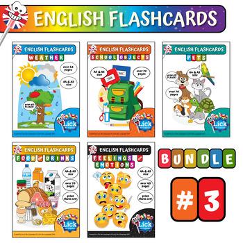 English Flashcards - Bundle #3