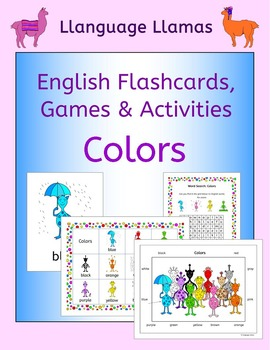 English Colors - Flashcards, Games and Activities for ESL, EAL, EFL