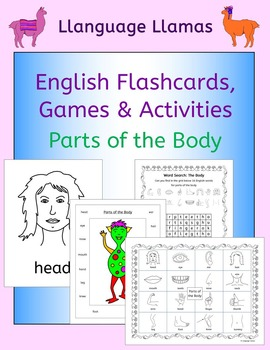 English Parts of the Body - Flashcards, Games and Activiti