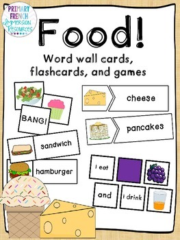 English Food - flashcards, word wall cards, and games!
