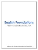 English Foundations Lessons Packet (CEFR Pre-A1)
