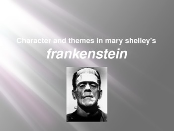English: Frankenstein - Character and Themes