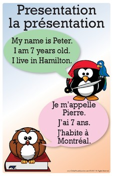 French & English Posters for kids