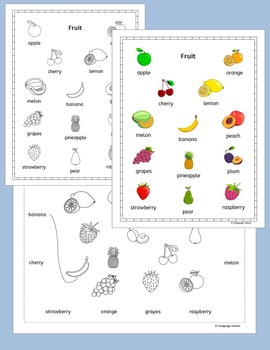 English Fruit for ESL, EAL, EFL
