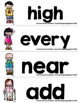 English Fry (sight) Words 201-300 Word Wall
