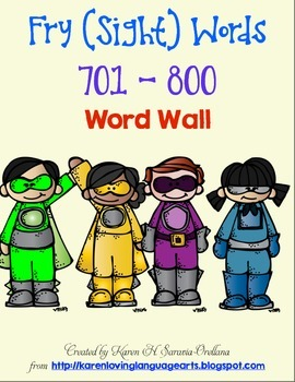 English Fry (sight) Words 701-800 Word Wall