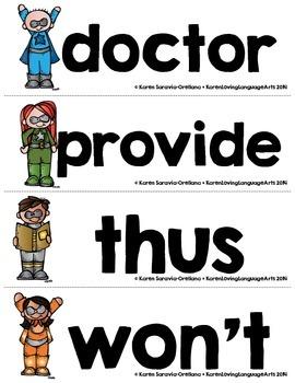 English Fry (sight) Words 801-900 Word Wall