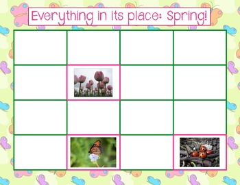 English Game - Everything in its place: Spring!