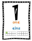 English German Bilingual Number Posters