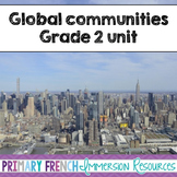 English Grade 2 Global Communities - word wall words and worksheets
