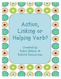 English Grammar: Action, Linking or Helping Verbs Sort Card Game