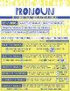 English Grammar Basics: Pronoun Worksheet and Printable Poster