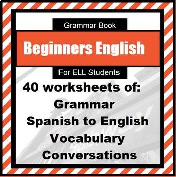 English Grammar Book for ESL learner level 1: Spanish translation of vocabulary