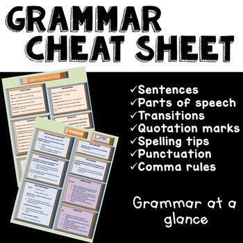 English Grammar Cheat Sheet