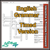 English Grammar Grade 5-10 Crossword