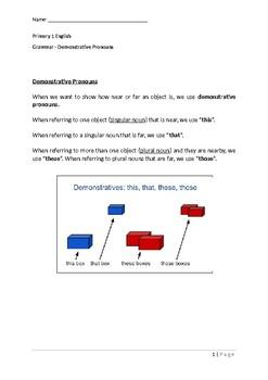 English Grammar - Demonstrative Pronouns